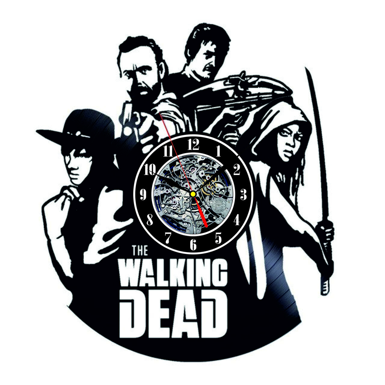 Настенные часы из виниловых пластинок LikeMark Walking Dead