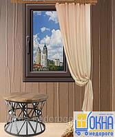 Одностворчатые ламинированные окна снаружи 800х1400