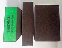 Полировка губка абразивная Bosch superfine мелкая зернистость зеленая