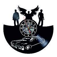 Настенные часы из виниловых пластинок LikeMark Supernatural 2