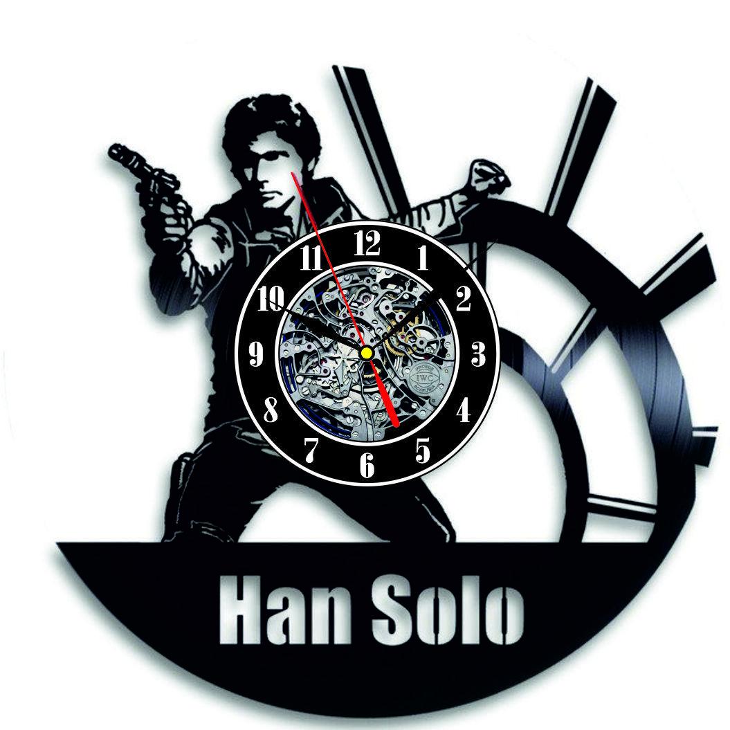 Настенные часы из виниловых пластинок LikeMark  Han Solo