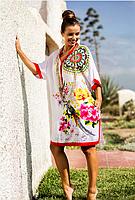 Платье, туника женская белая из вискозы Индиано AnastaSea 122