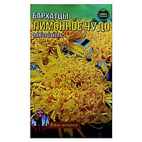 Бархатцы Лимонное чудо однолетник семена цветы, большой пакет 3г