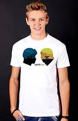 Белая футболка мужскаяс принтом Counter Strikeспортивная хлопок