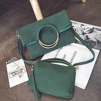 Средняя сумочка из коллекции Answear Зеленая Новинка, фото 1