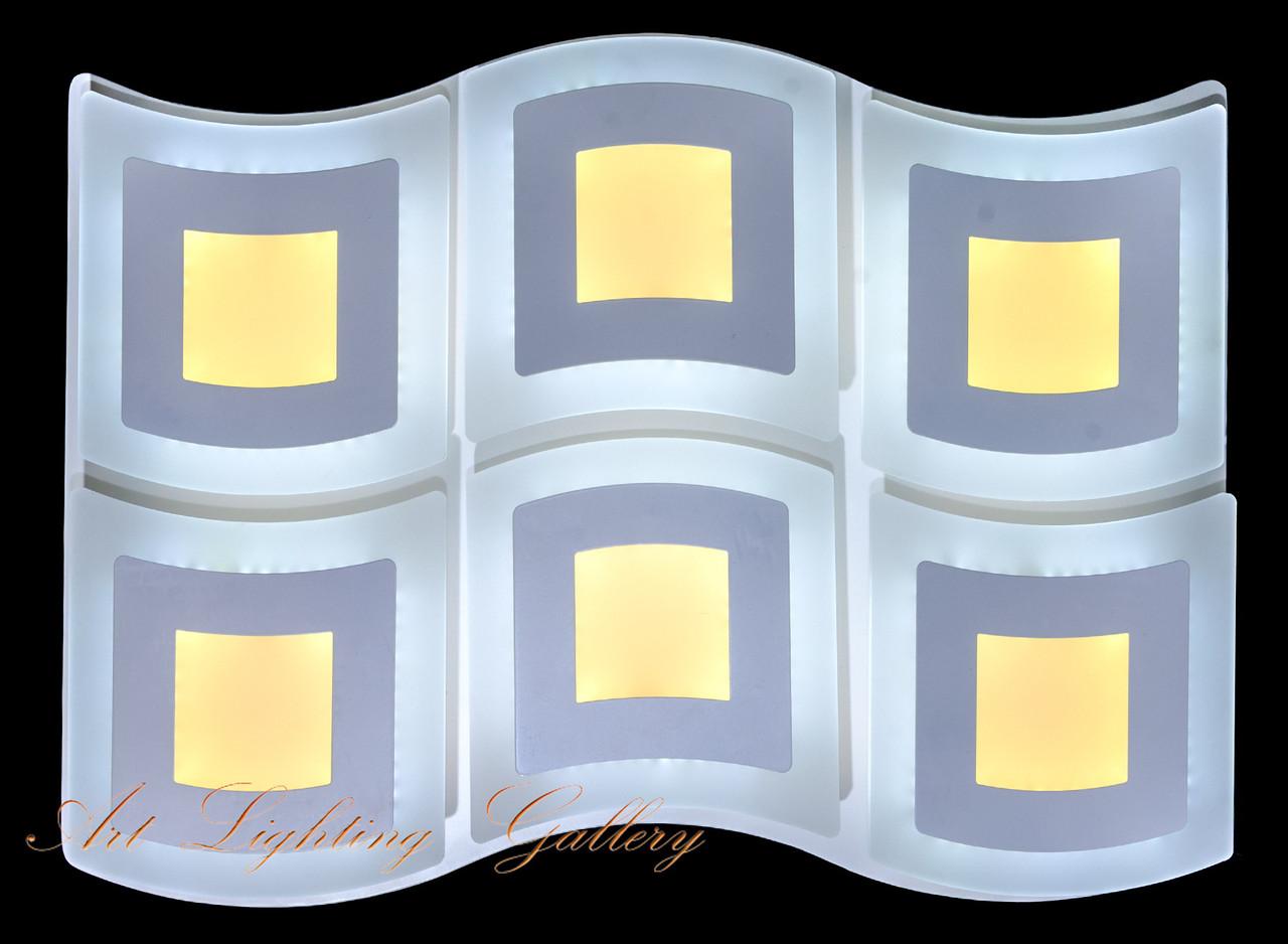 Прямоугольная потолочная LED люстра