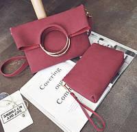 Средняя сумочка из коллекции Answear Бордо Новинка, фото 1