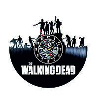 Настенные часы из виниловых пластинок LikeMark Walking Dead 3