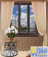 Ламинированные окна снаружи ➪ цены, фото