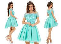 Выпускное платье с фатиновым подьюбником 887227