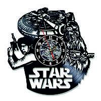 Настенные часы из виниловых пластинок LikeMark Han Solo and Chewbacca