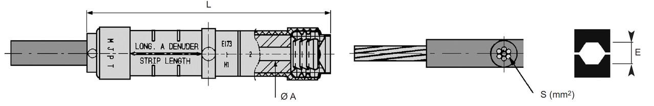 Прессуемые соединительные зажимы MJPT 120 (SICAME)
