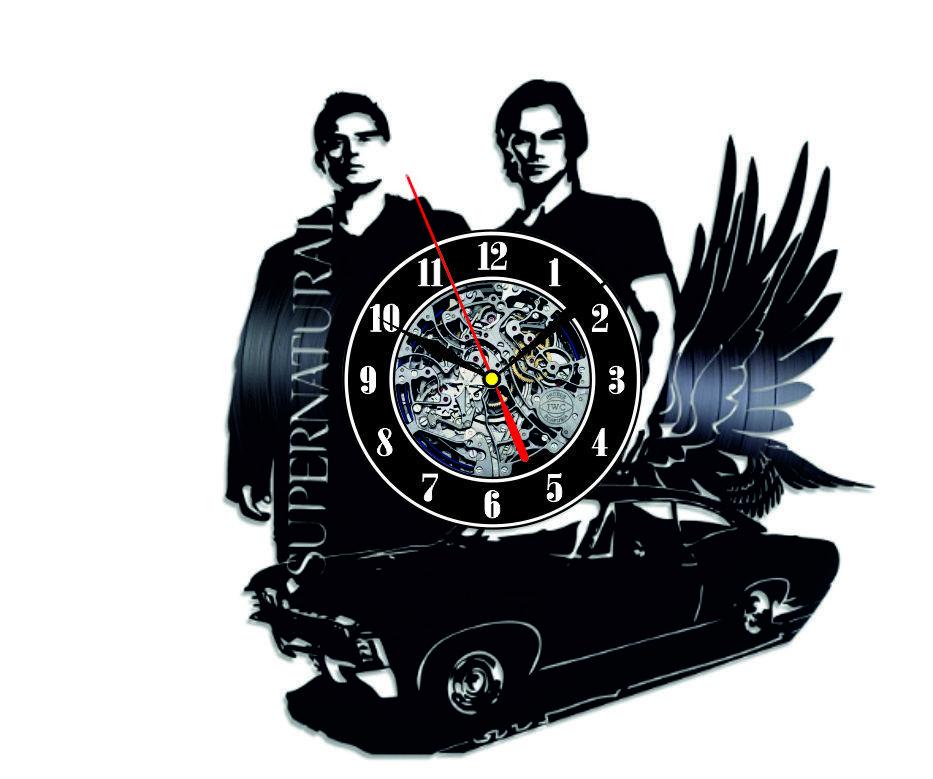 Настенные часы из виниловых пластинок LikeMark Supernatural 3