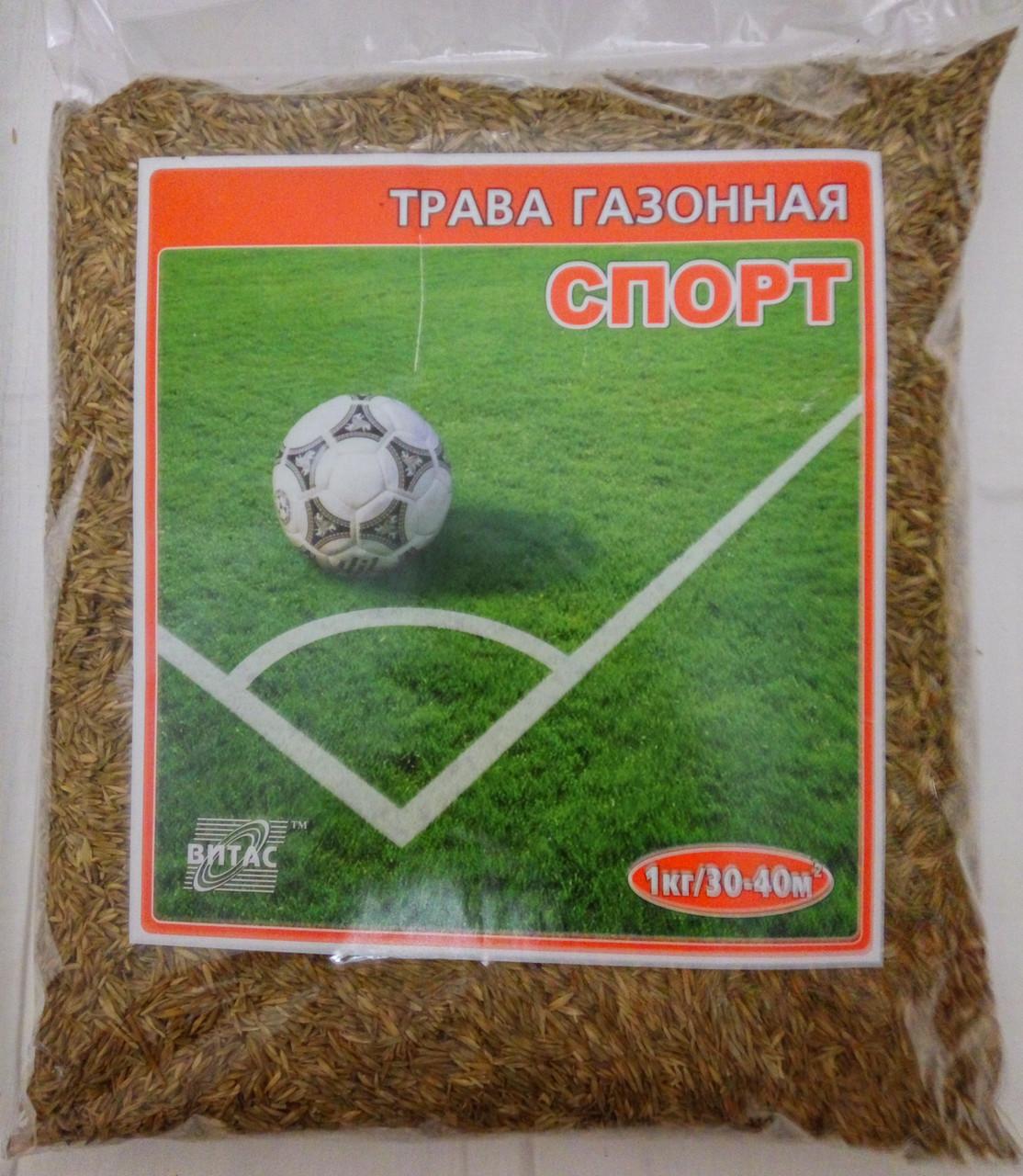 Трава газонная СПОРТ, упаковка 1 кг, ТМ Витас