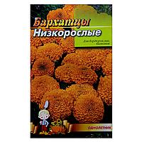 Бархатцы низкорослые Оранжевые семена цветы, большой пакет 3г