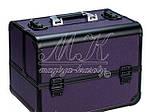 """Профессиональный алюминиевый кейс для косметики """"Exclusive Series"""", фиолетовый с черным, фото 3"""