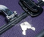 """Профессиональный алюминиевый кейс для косметики """"Exclusive Series"""", фиолетовый с черным, фото 4"""