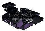 """Профессиональный алюминиевый кейс для косметики """"Exclusive Series"""", фиолетовый с черным, фото 6"""