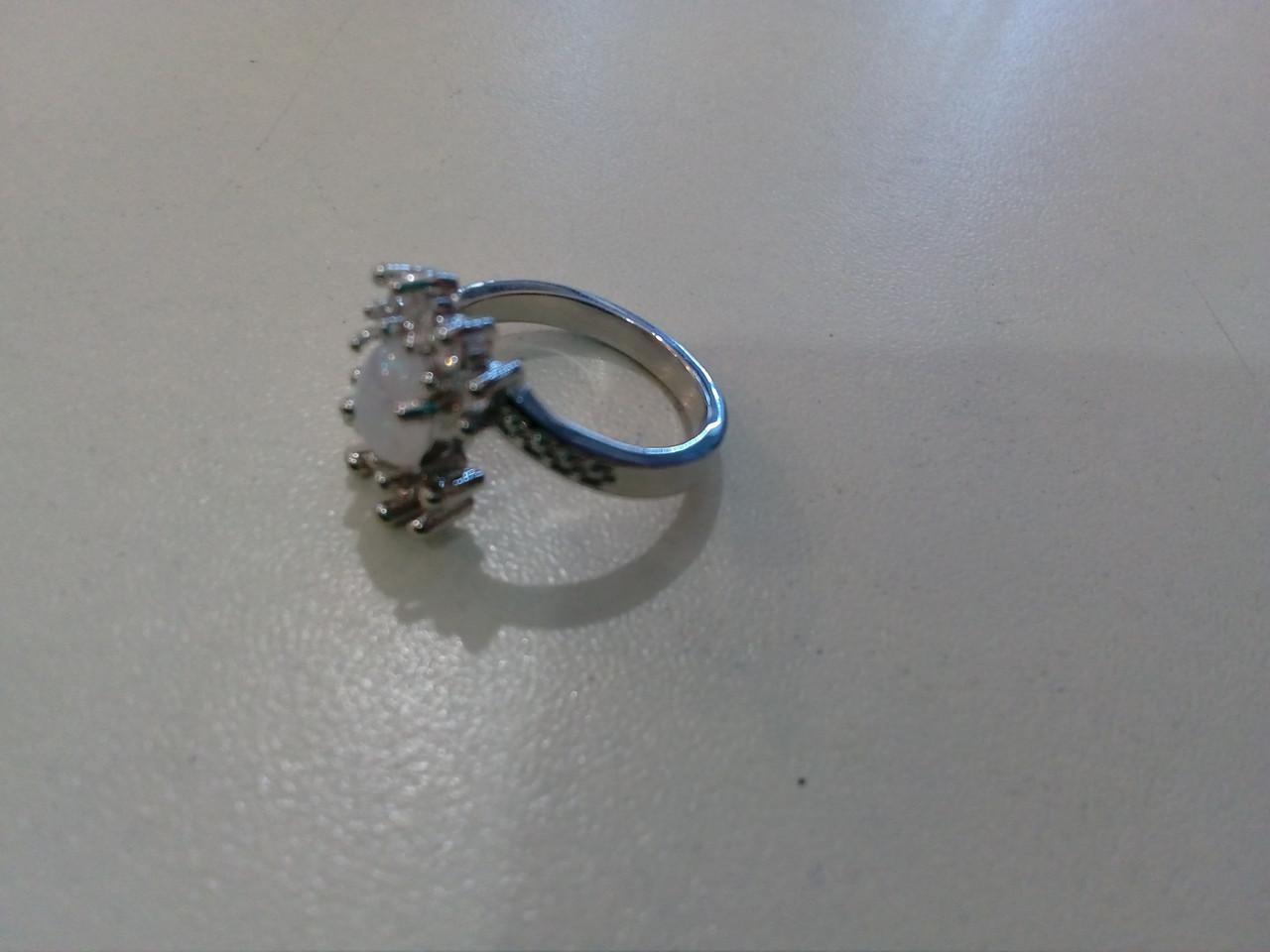Опао кільце з вогненним опалом в сріблі 17-17,5 розмір 17,3 кільце вогненний опал (лаб-й)