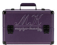 Стильный чемодан для мастера маникюра, визажиста, фиолетовый