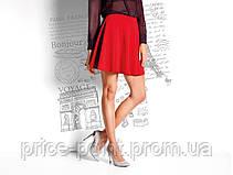 Юбка солнце, расклешенная юбка с поясом-резинкой Esmara, цвет красный р. М (EUR 40/42)
