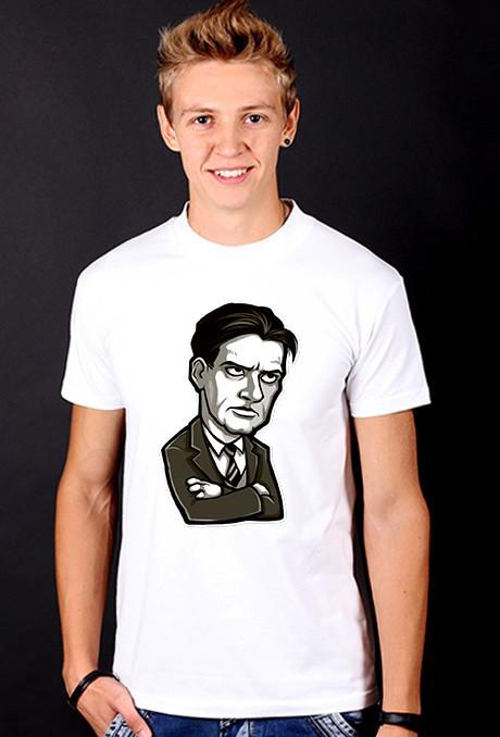 Белая футболка мужская с принтом Личность спортивная хлопок