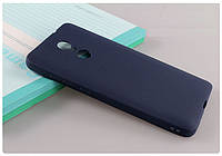 Чехол Xiaomi Redmi 5 Plus 5.99'' силикон soft touch бампер темно-синий