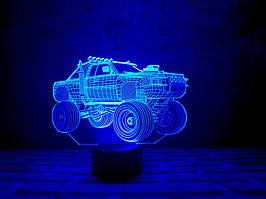 """3D Светильник """"Автомобиль 4"""""""