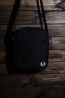 Наплечная спорт сумка фред перри/Fred Perry черная