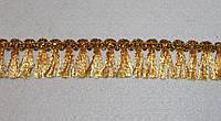 Тесьма декоративная люрекс золото 6147, фото 1