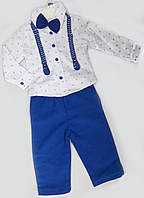 Детский костюм (штаны, рубашка, бабочка), размеры 1-3 года