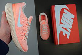 Кроссовки женские Nike LunarEpic Low Flyknit 2 IWD Barely Orange / NR-NKR-1243 (Реплика)