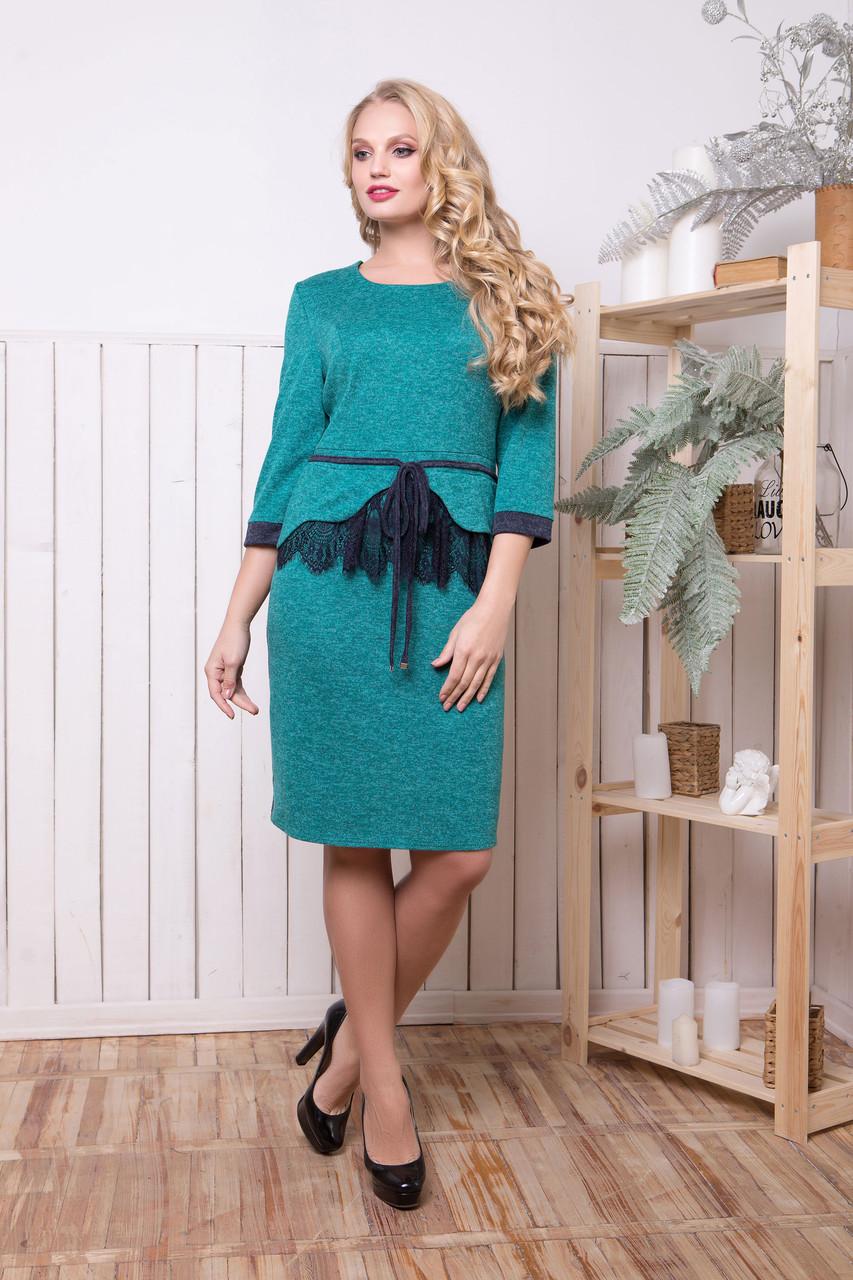 Женское батальное платье из ангоры