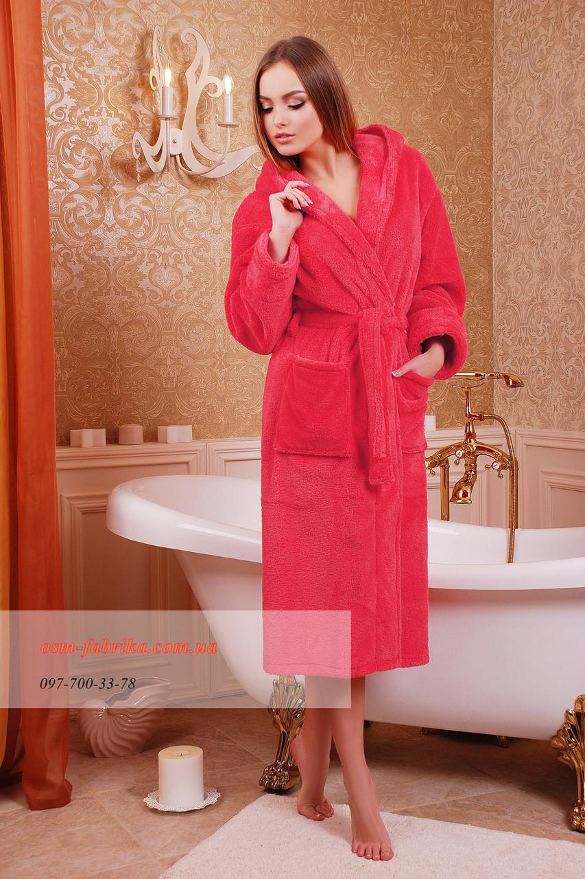 Длинный банный халат на запах