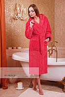Длинный банный халат на запах, фото 1