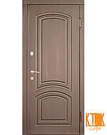 Уличная дверь серии Элегант-Антик (тёмный орех, медный антик), фото 1