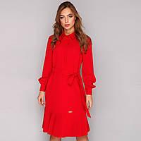 """Красное платье-рубашка весеннее молодженое """"Монрей"""""""