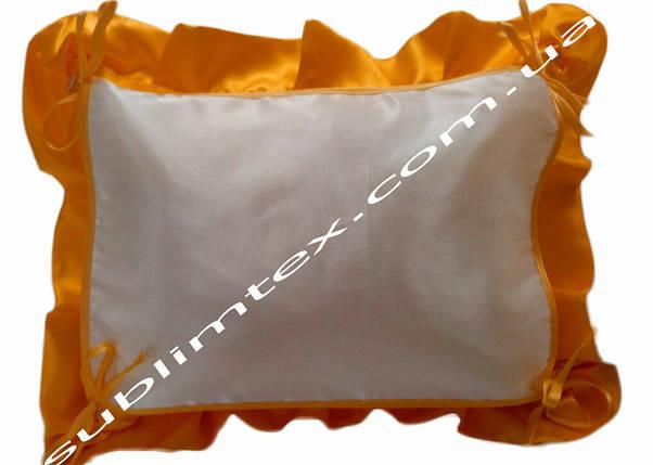 Подушка, натуральный наполнитель, с накладной вставкой на завязках для печати,размер 40х50см., цвет персиковый, фото 2