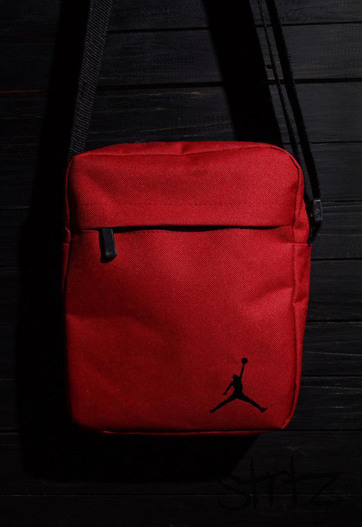 Яркая сумка на плечо барсетка джордан/Jordan красная