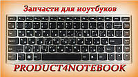 Клавиатура для ноутбука LENOVO (U310) rus, black, silver frame
