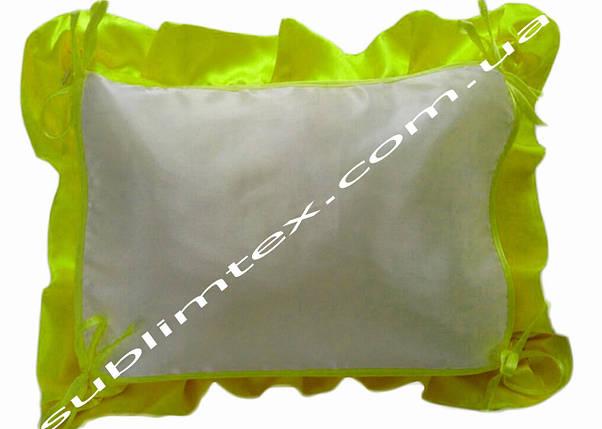 Подушка, натуральный наполнитель, с накладной вставкой на завязках для печати,размер 40х50см., цвет салатовый, фото 2