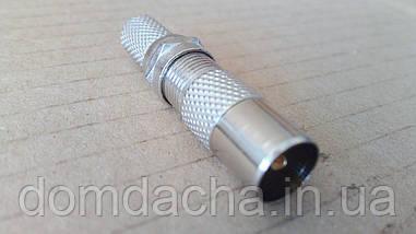 Штекер антенный металлический под F коннектор