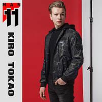 11 Kiro Tokao | Японский весенне-осенний бомбер 362 черый-хаки, фото 1