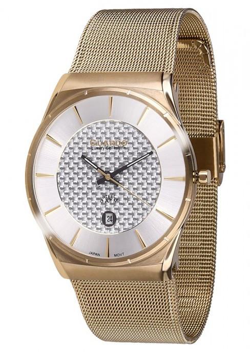 Чоловічі наручні годинники Guardo S01547(m) GW