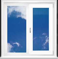 Вікно в.1,44 *ш.1,66м металопластикове двостулкове біле глухе