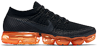 Кроссовки мужские Nike Air VaporMax Flyknit Anthracite Black Rush Orange AH8449-001