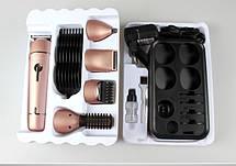 Машинка для стрижки волосся kemei km-1015, 10 в 1, фото 3