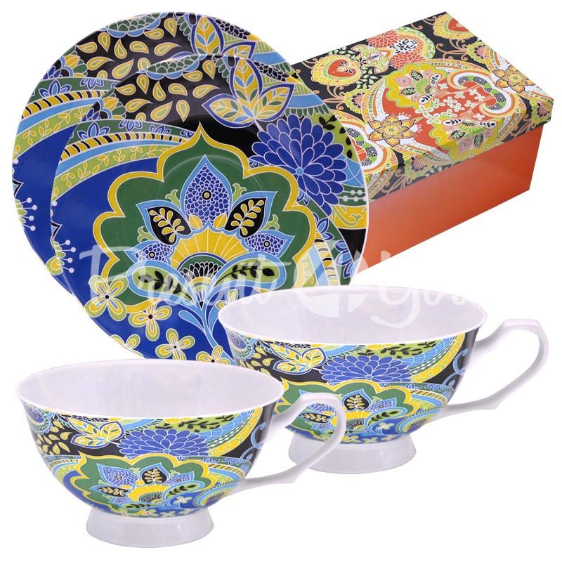 Чайный набор фарфор «Вдохновение» : 2 чашки на 200 мл. с блюдцами