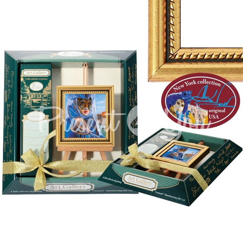 Картина мольберт «Правда, спрятанная за маской» 9х10 см.