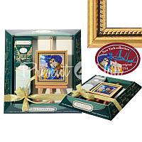 Картина мольберт «Размышления голубой маски» 9х10 см.